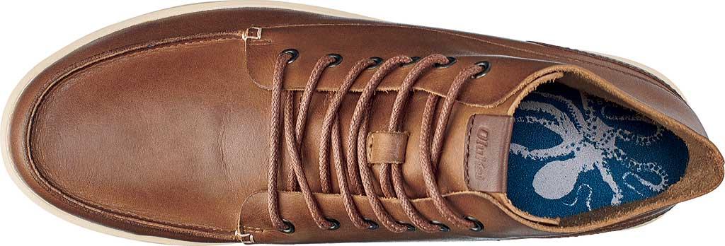 Men's OluKai Nalukai Ankle Boot, Fox/Bone Full Grain Leather, large, image 3