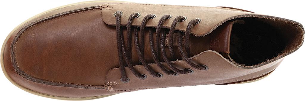 Men's OluKai Nalukai Ankle Boot, Fox/Bone Full Grain Leather, large, image 5