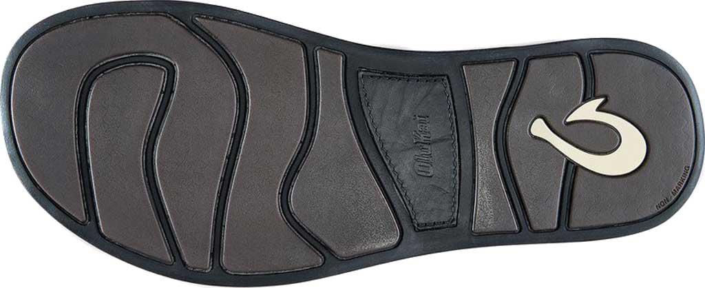 Men's OluKai Nalukai Flip Flop, Vintage Indigo/Charcoal Full Grain Leather, large, image 4