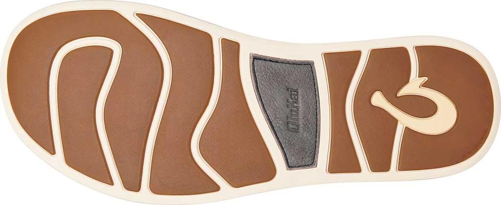 Men's OluKai Nalukai Flip Flop, Vintage Indigo/Charcoal Full Grain Leather, large, image 3
