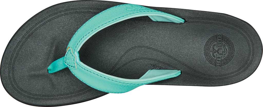 Women's OluKai Punua Kia'I Vegan Flip Flop, Tropical Blue/Dark Shadow Synthetic, large, image 2