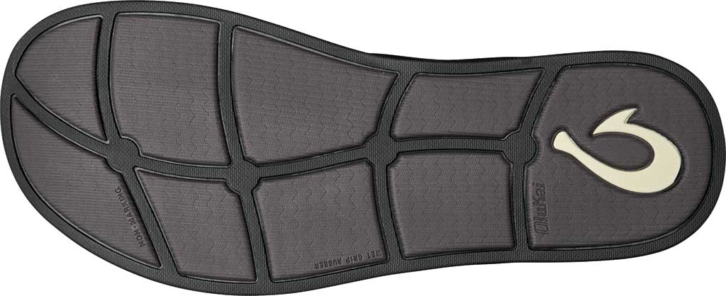 Men's OluKai Alania Flip Flop, Charcoal/Charcoal Nubuck, large, image 3