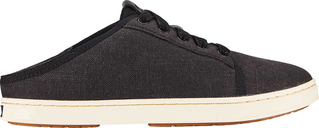 Women's OluKai Pehuea Li Sneaker, Black/Linen Mesh/Synthetic Suede, large, image 2