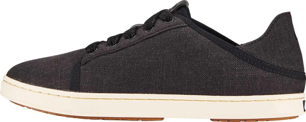 Women's OluKai Pehuea Li Sneaker, Black/Linen Mesh/Synthetic Suede, large, image 3
