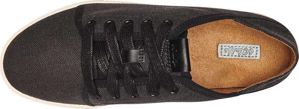 Women's OluKai Pehuea Li Sneaker, Black/Linen Mesh/Synthetic Suede, large, image 4