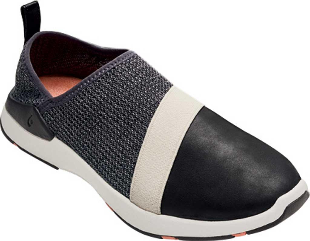 Women's OluKai Miki Slip On Sneaker, Fog/Black Textile, large, image 1