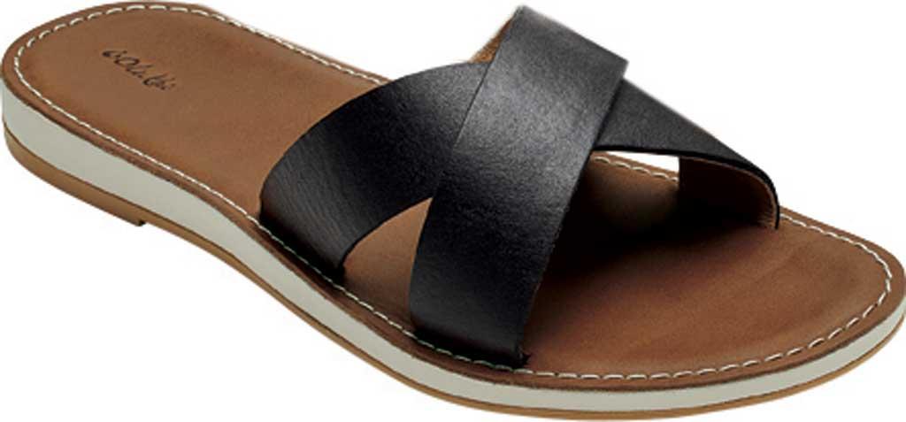 Women's OluKai Ke'a Sandal, Black/Tan Leather, large, image 1