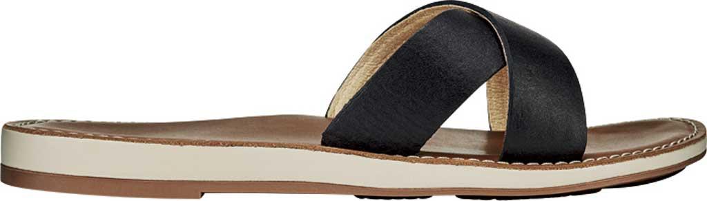 Women's OluKai Ke'a Sandal, Black/Tan Leather, large, image 2