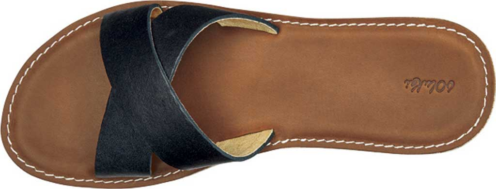 Women's OluKai Ke'a Sandal, Black/Tan Leather, large, image 3