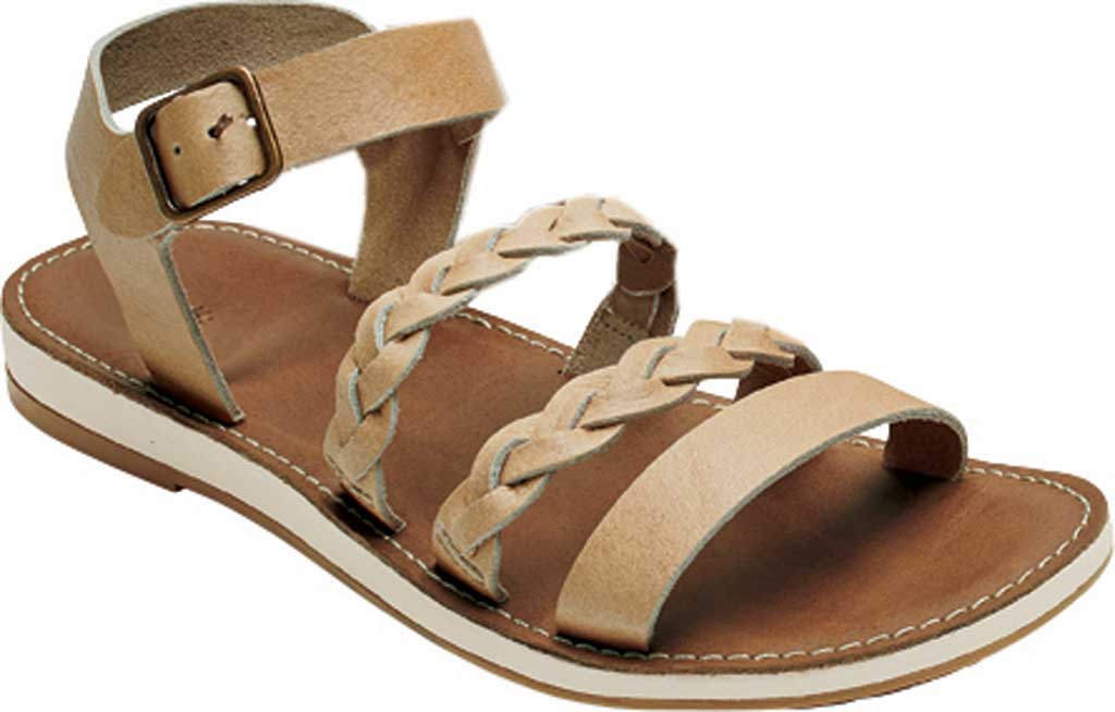Women's OluKai Kahiko Ko'o Ankle Strap Sandal, Sting/Tan Leather, large, image 1