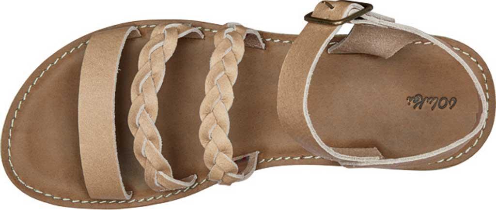 Women's OluKai Kahiko Ko'o Ankle Strap Sandal, Sting/Tan Leather, large, image 3