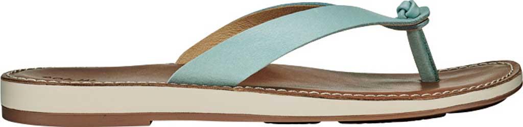 Women's OluKai Nohie Thong Sandal, Tide Blue/Tan Leather, large, image 2