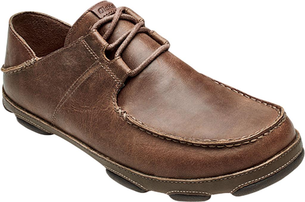 Men's OluKai Ohana Li 'Ili Slip On Shoe, Tan/Mustang Full Grain Leather, large, image 1