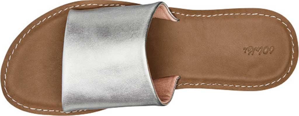 Women's OluKai Nohie 'Olu Slide, Silver/Tan Leather, large, image 2
