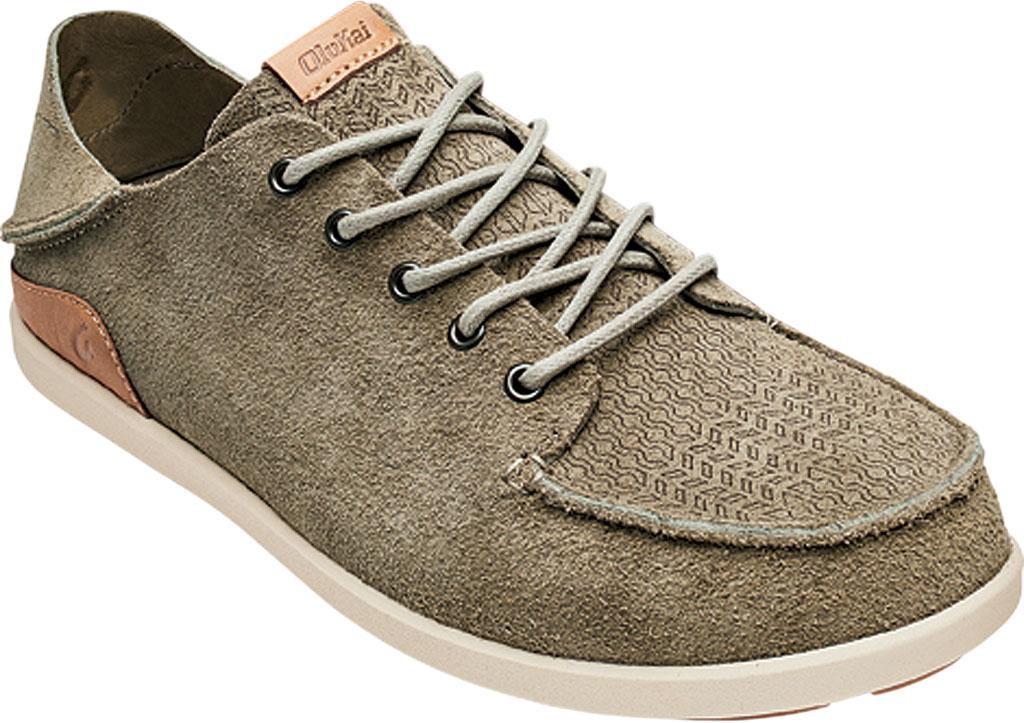 Men's OluKai Nalukai Kala Backless Sneaker, Silt/Bone Full Grain Leather, large, image 1