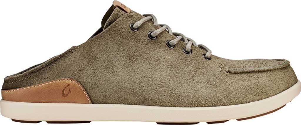 Men's OluKai Nalukai Kala Backless Sneaker, Silt/Bone Full Grain Leather, large, image 2