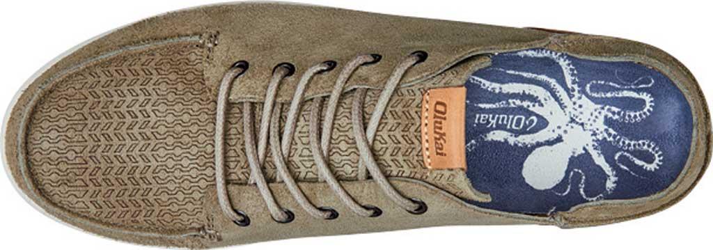 Men's OluKai Nalukai Kala Backless Sneaker, Silt/Bone Full Grain Leather, large, image 3
