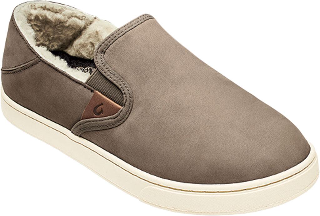 Women's OluKai Pehuea Heu Slip On, Taupe Grey/Taupe Grey Nubuck Leather, large, image 1
