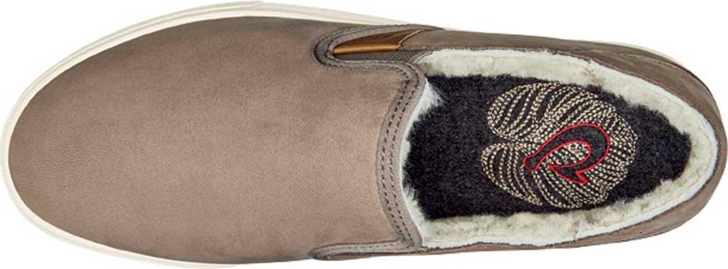 Women's OluKai Pehuea Heu Slip On, Taupe Grey/Taupe Grey Nubuck Leather, large, image 3