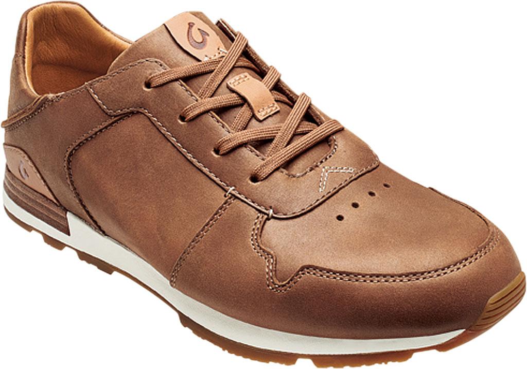Men's OluKai Huaka'i Li Sneaker, Toffee/Toffee Nubuck Leather, large, image 1