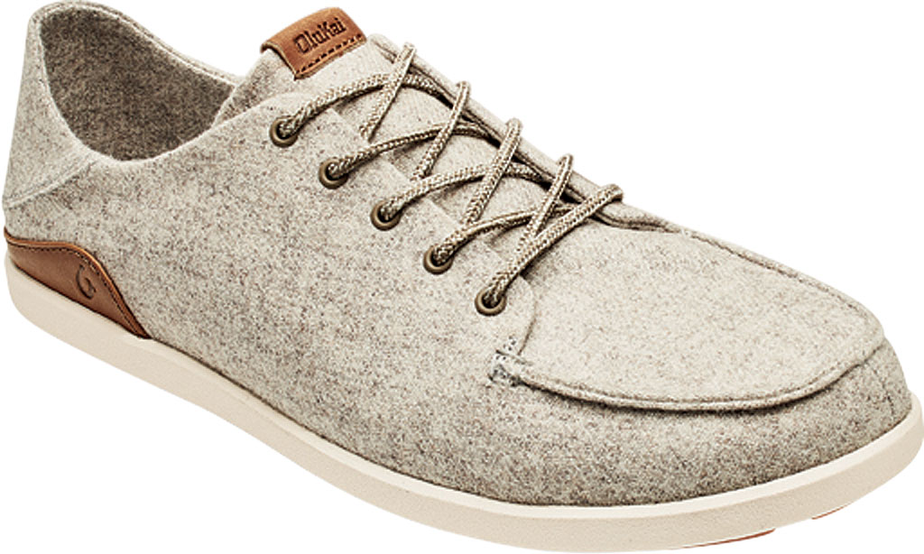 Men's OluKai Manoa Hulu Lace Up Sneaker, Pumice Stone/Sahara Textile, large, image 1