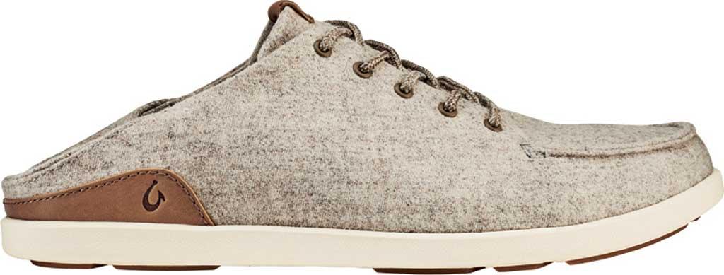 Men's OluKai Manoa Hulu Lace Up Sneaker, Pumice Stone/Sahara Textile, large, image 2
