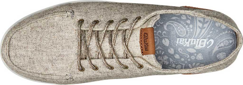 Men's OluKai Manoa Hulu Lace Up Sneaker, Pumice Stone/Sahara Textile, large, image 3