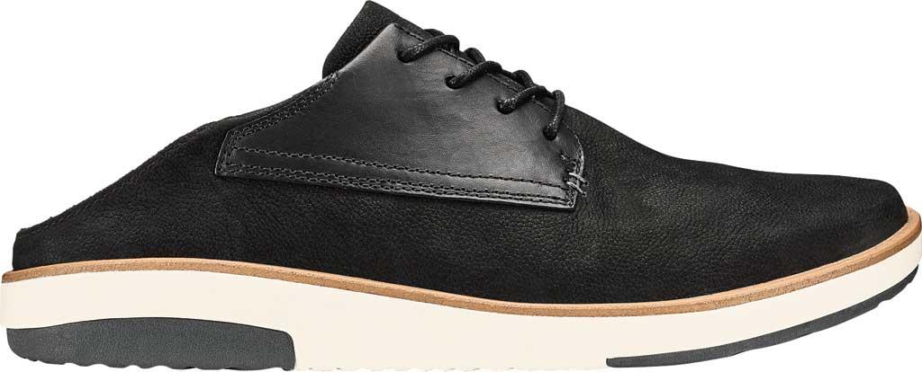 Men's OluKai Kalia Li Sneaker, Black/Black Nubuck, large, image 2