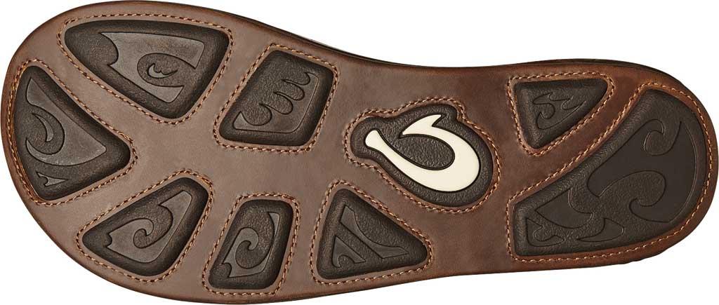 Men's OluKai Honoli'I Thong Sandal, Toffee/Toffee Full Grain Leather, large, image 4