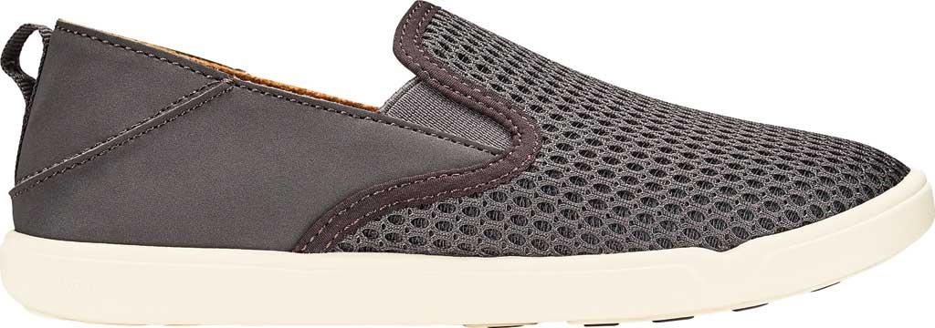 Girls' OluKai Pehuea Slip On Sneaker, Pavement/Pavement Full Grain Leather, large, image 1