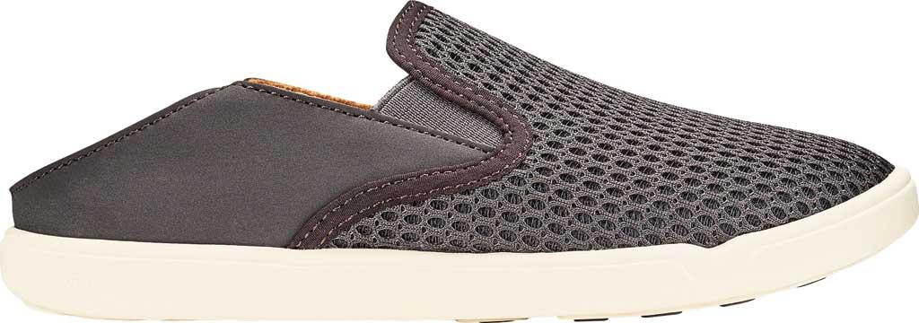 Girls' OluKai Pehuea Slip On Sneaker, Pavement/Pavement Full Grain Leather, large, image 2