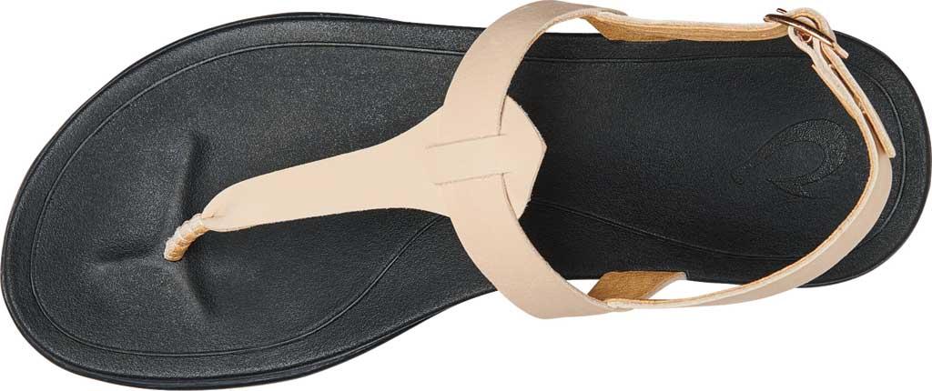 Women's OluKai Ekekeu Thong Sandal, Tapa/Black Full Grain Leather, large, image 2