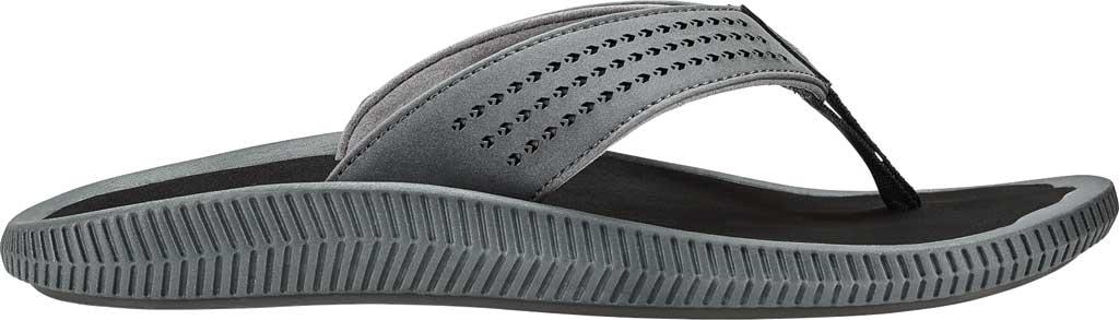 Men's OluKai Ulele Thong Sandal, Dark Shadow/Black Synthetic, large, image 1