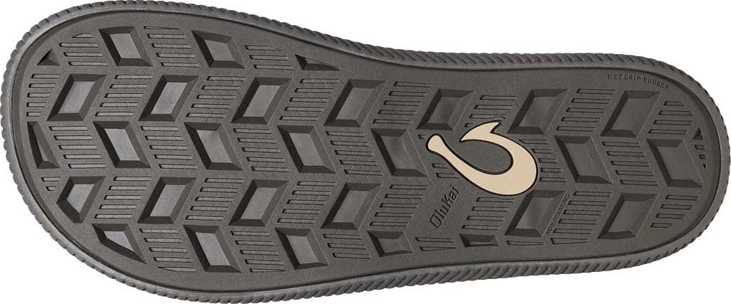 Men's OluKai Ulele Thong Sandal, Dark Shadow/Black Synthetic, large, image 3