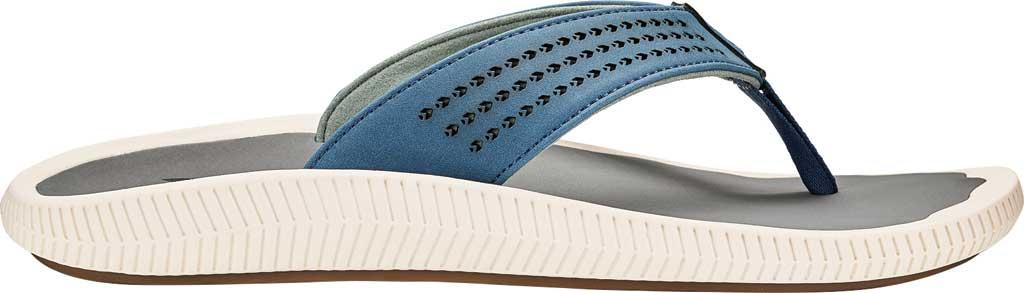Men's OluKai Ulele Thong Sandal, Slate Blue/Charcoal Synthetic, large, image 1