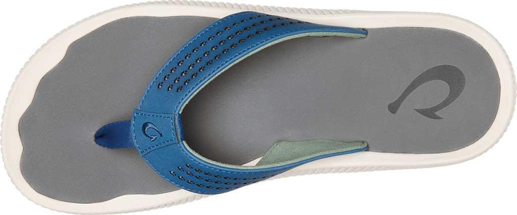 Men's OluKai Ulele Thong Sandal, Slate Blue/Charcoal Synthetic, large, image 2