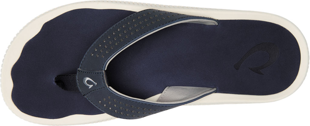 Men's OluKai Ulele Thong Sandal, Blue Depth/Blue Depth Synthetic, large, image 2
