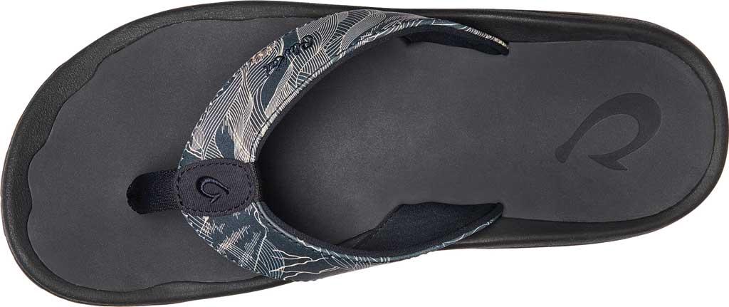 Men's OluKai Ohana Pa'I Thong Sandal, Trench Blue/Pahoehoe Synthetic, large, image 3