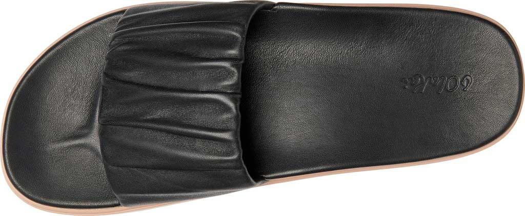 Women's OluKai Pihapiha Slide, Black/Off White Nappa Leather, large, image 3