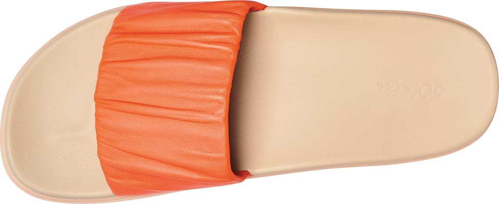 Women's OluKai Pihapiha Slide, Fusion Coral/Off White Nappa Leather, large, image 2