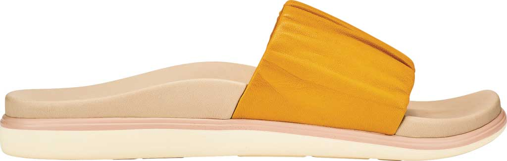 Women's OluKai Pihapiha Slide, Solar Glow/Off White Nappa Leather, large, image 1