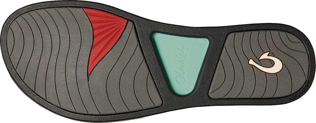 Women's OluKai Pi'O Lua Thong Sandal, Green Aqua/Black Synthetic, large, image 3