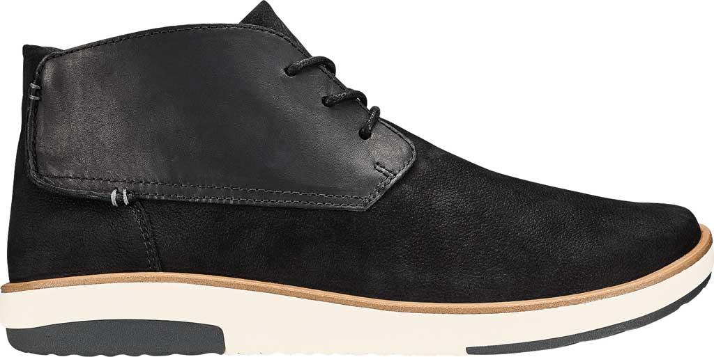 Men's OluKai Kalia Puki Chukka Boot, Black/Black Nubuck, large, image 1