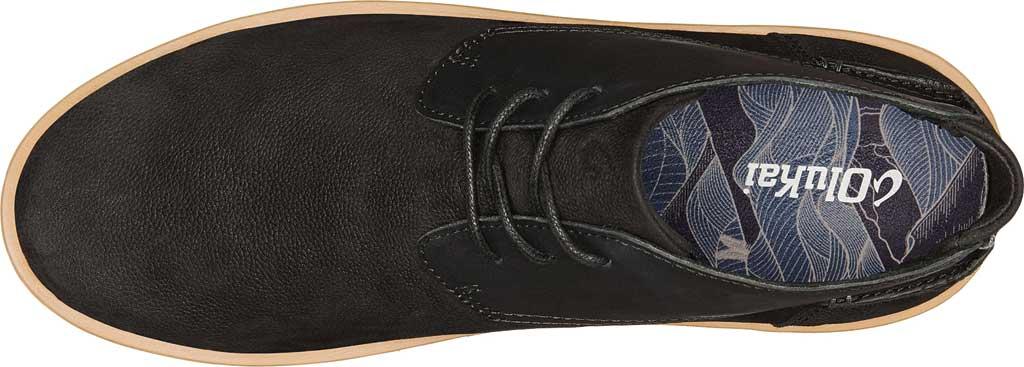 Men's OluKai Kalia Puki Chukka Boot, Black/Black Nubuck, large, image 2