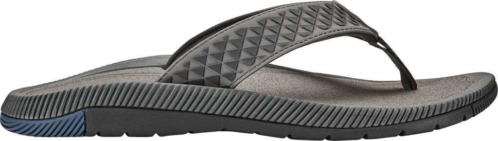 Men's OluKai Halo Thong Sandal, Charcoal/Charcoal Synthetic, large, image 1