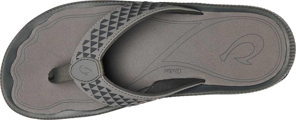 Men's OluKai Halo Thong Sandal, Charcoal/Charcoal Synthetic, large, image 2