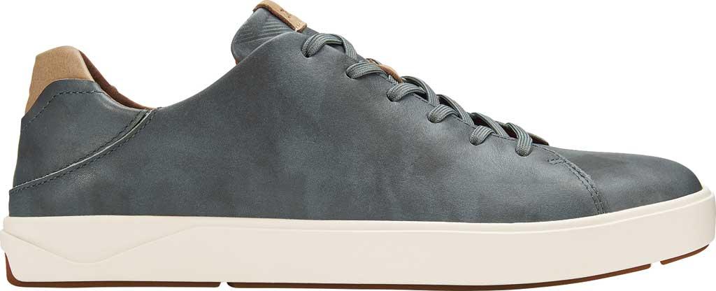Men's OluKai Lae'Ahi Li 'Ili Sneaker, Charcoal/Charcoal Full Grain Leather, large, image 1