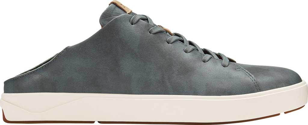 Men's OluKai Lae'Ahi Li 'Ili Sneaker, Charcoal/Charcoal Full Grain Leather, large, image 2