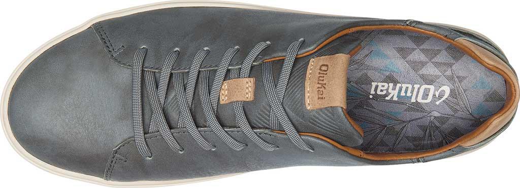 Men's OluKai Lae'Ahi Li 'Ili Sneaker, Charcoal/Charcoal Full Grain Leather, large, image 3