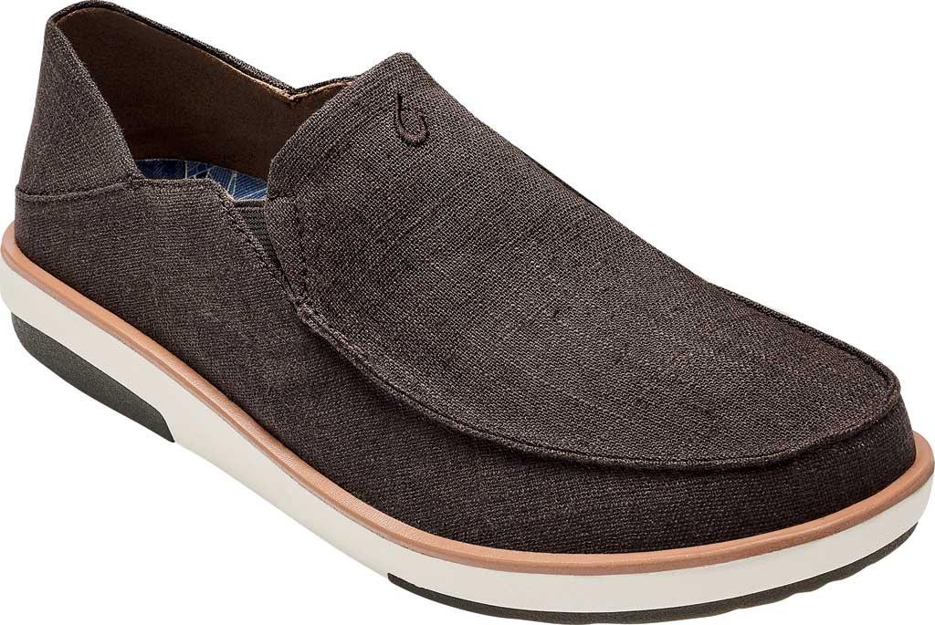 Men's OluKai Kalia Kapa Slip On Sneaker, Dark Wood/Dark Wood Linen, large, image 1